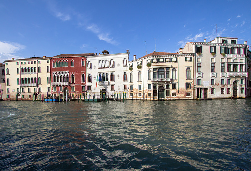 along the Grand Canal, Venice, Italy