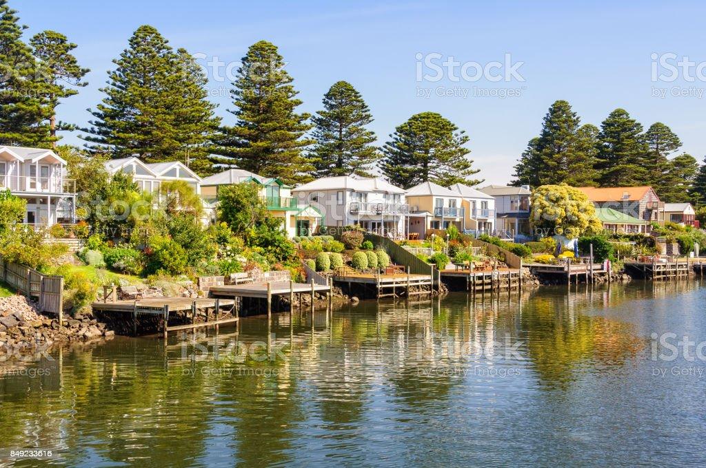Along the Moyne River - Port Fairy stock photo