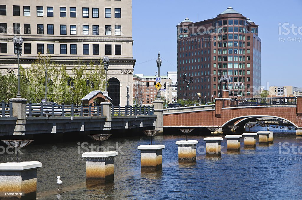 Along the Providence River stock photo