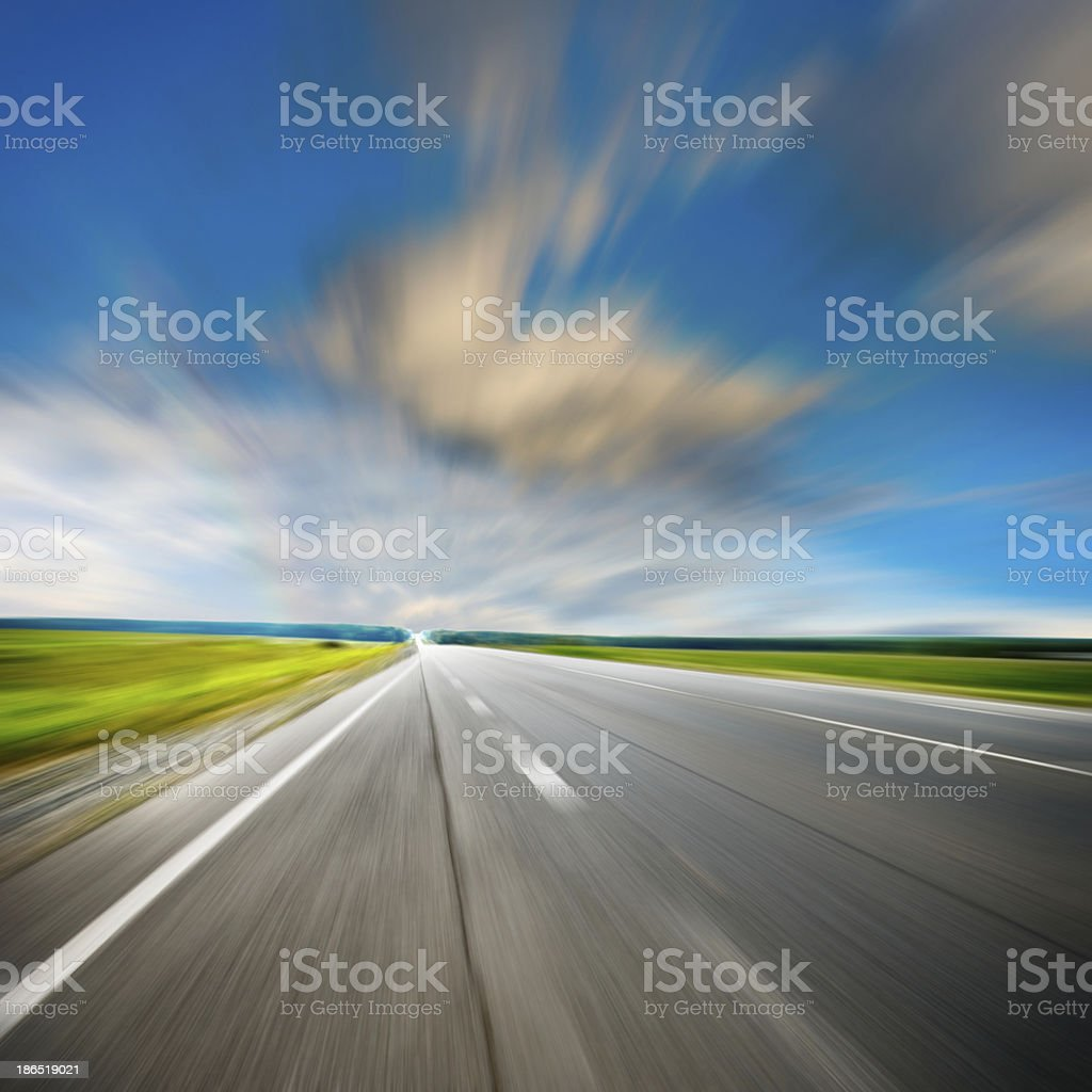 along the road royalty-free stock photo