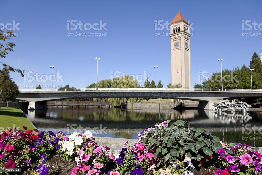 Along the Spokane River stock photo
