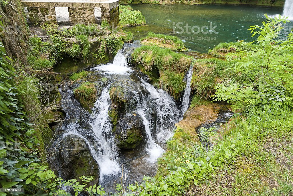 Along the Way of St. James next to Conques, France stock photo