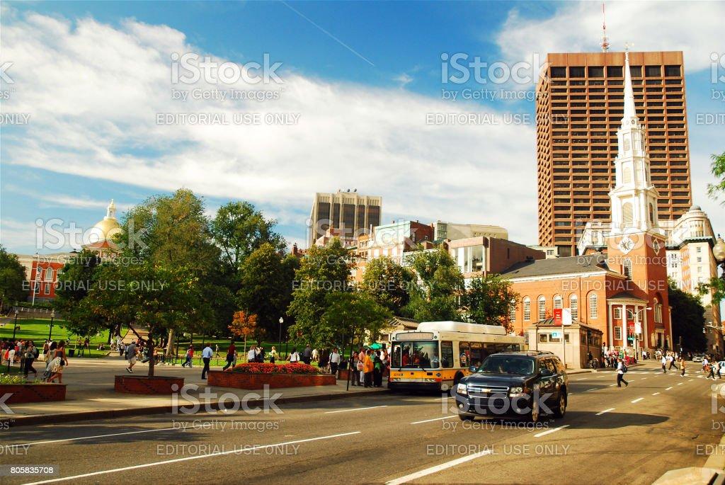 Along Tremont Street stock photo