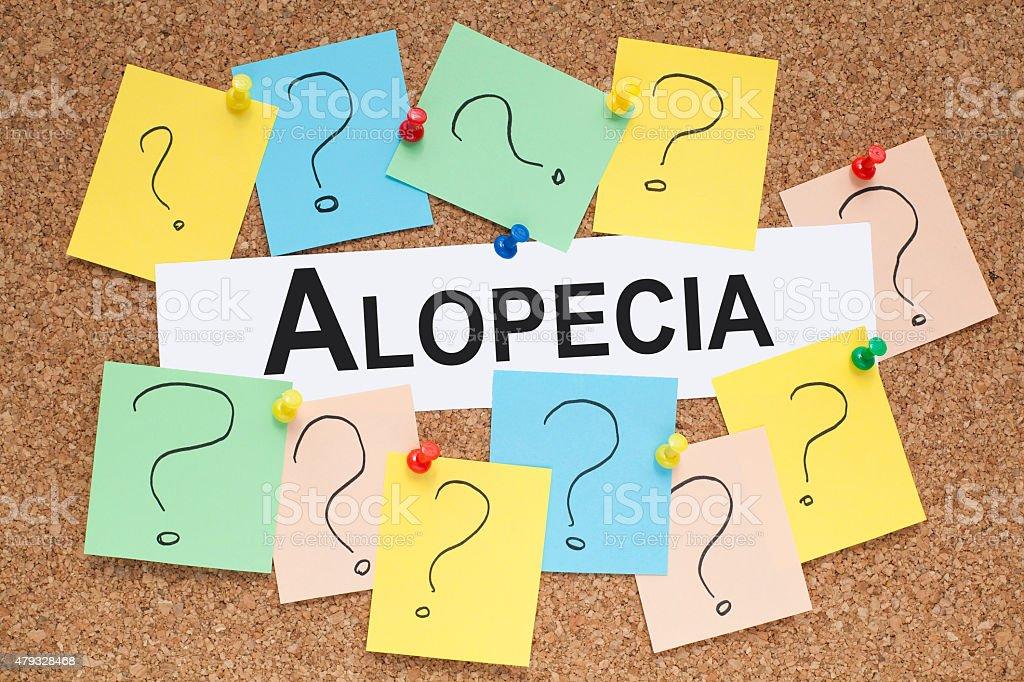 Alopecia stock photo
