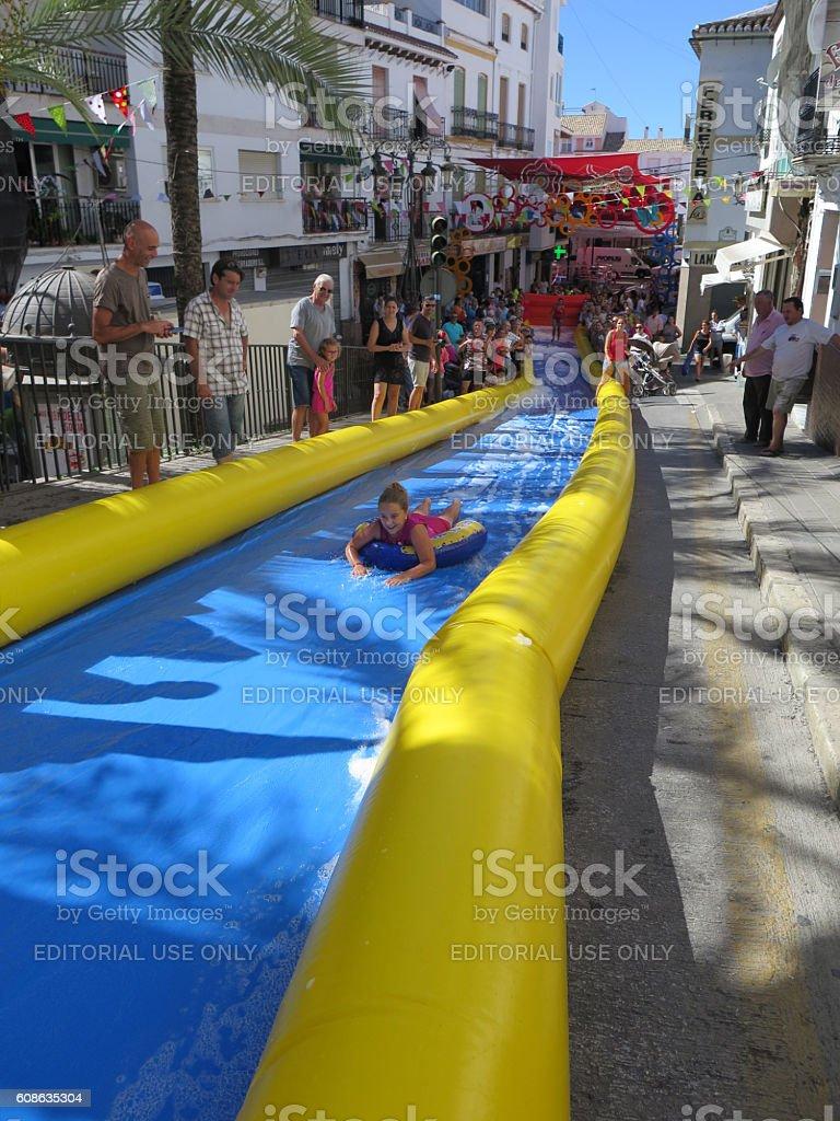 Alora Feria festivities stock photo