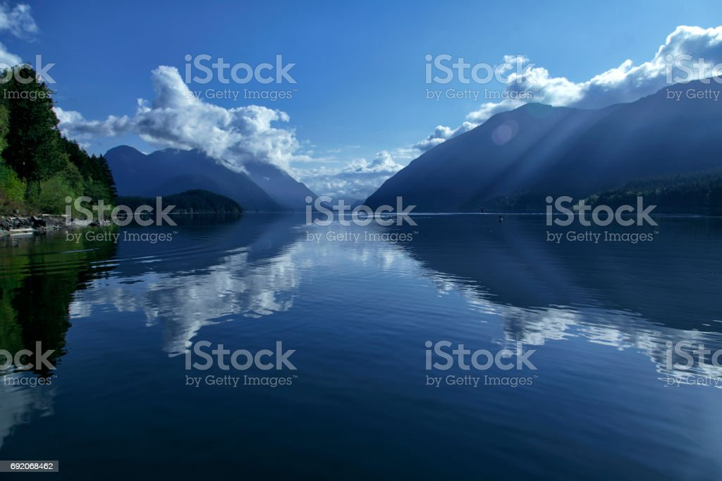 Alouette Lake, Maple Ridge, BC, Canada stock photo