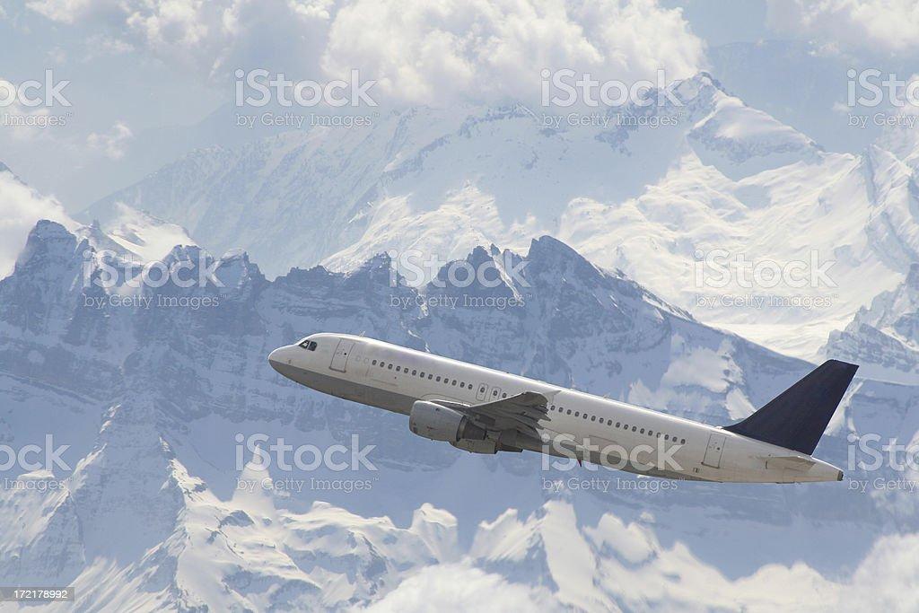 alp flight stock photo