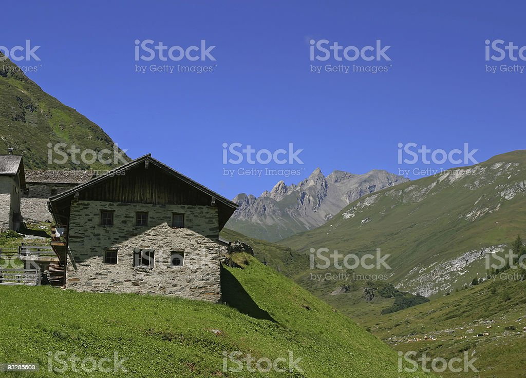 Alp in Austrian Dolomites royalty-free stock photo