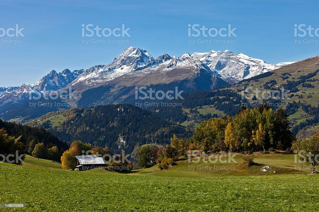 Alp in Fall stock photo