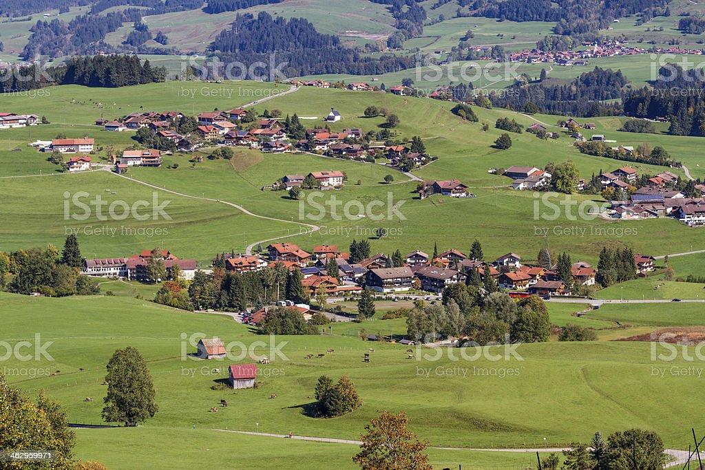 Alp Mountain Village stock photo