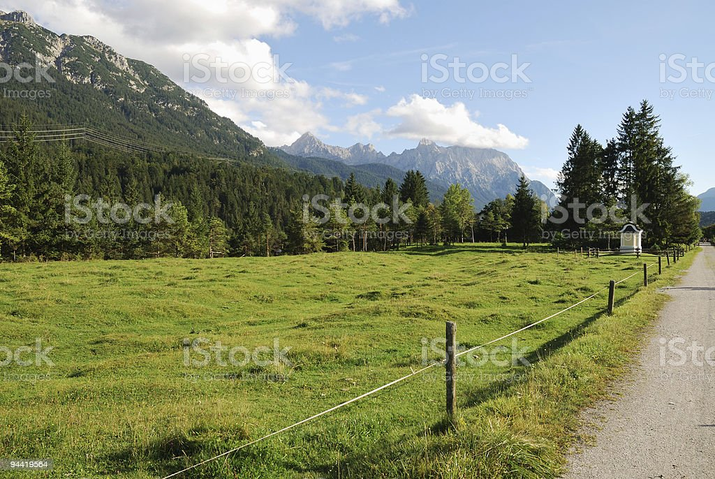 Alp pasture royalty-free stock photo