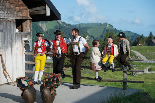 älplerfest schwaegalp - patrick hutter stock-fotos und bilder