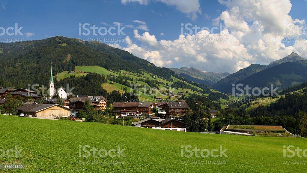 Alpbach valley royalty-free stock photo