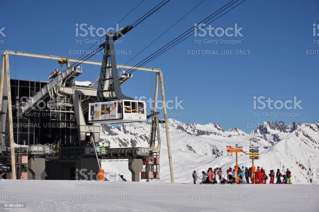 Alpe d'Huez Alpette Rousse kabelbaan foto