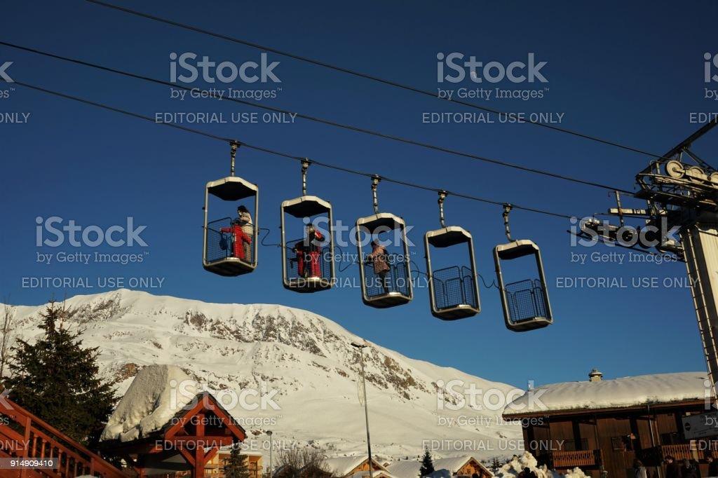 Alpe d'Huez emmer lift foto