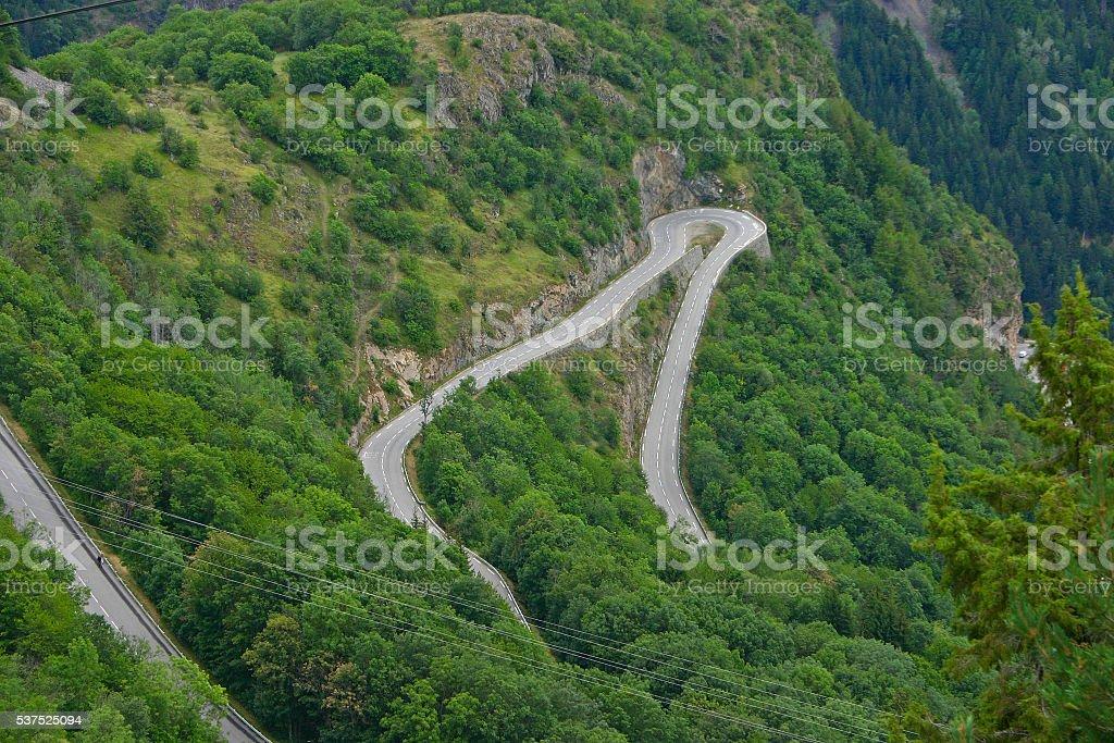 Alpe d'Huez - Curve 9 foto