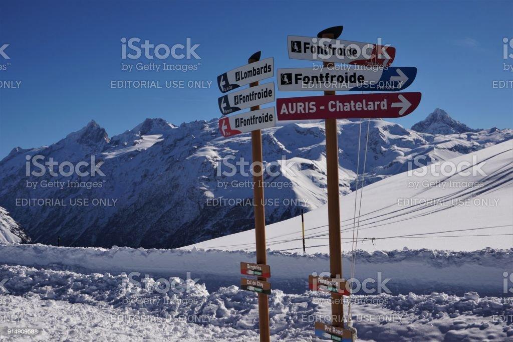 Alpe d'Huez Fontfroide tekenen foto