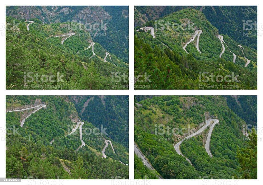 Alpe d'Huez - Hairpin Curves foto