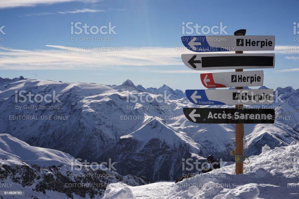 Alpe d'Huez teken post foto