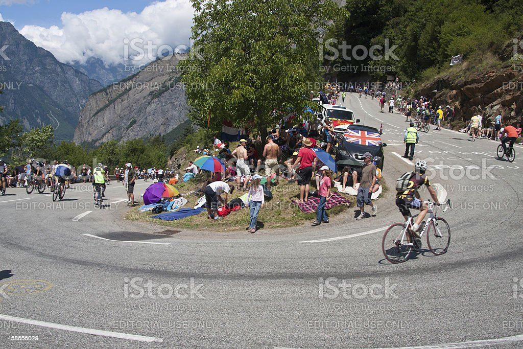 Alpe d'Huez Tour de France Stage royalty-free stock photo