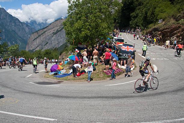 Alpe d'Huez Tour de France Stage stock photo