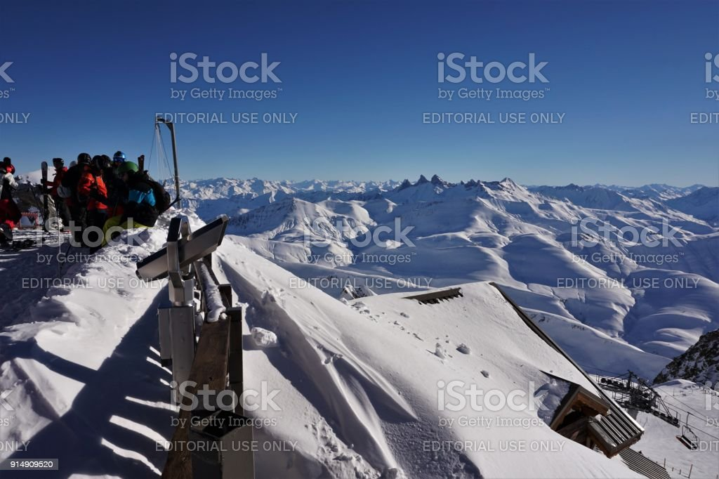Alpe d'Huez gezichtspunt foto