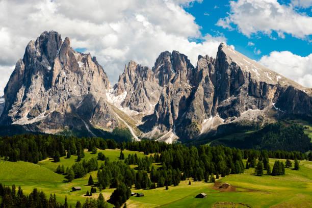 Alpe di Siusi in Trentino Alto Adige stock photo