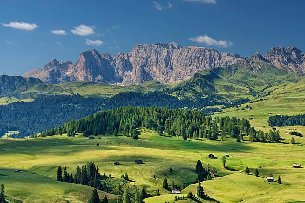 alpe di siusi (naturpark sextener) - seiser alm stock-fotos und bilder