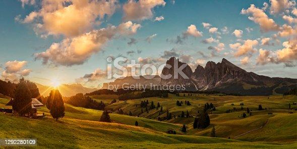 Seiser Alm, Trentino, Val Gardena, Dolomites, Italy Save