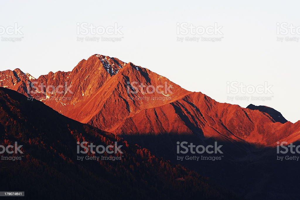 Alpenglühen royalty-free stock photo