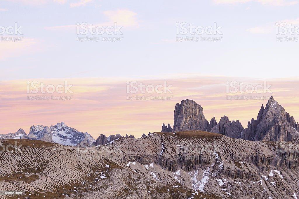 Alpenglow landscape royalty-free stock photo