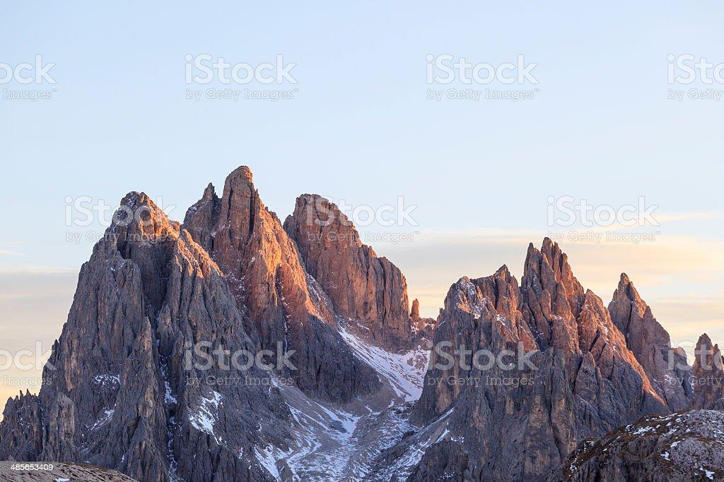 Alpenglow peaks royalty-free stock photo