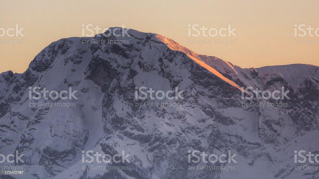 Alpenglow royalty-free stock photo