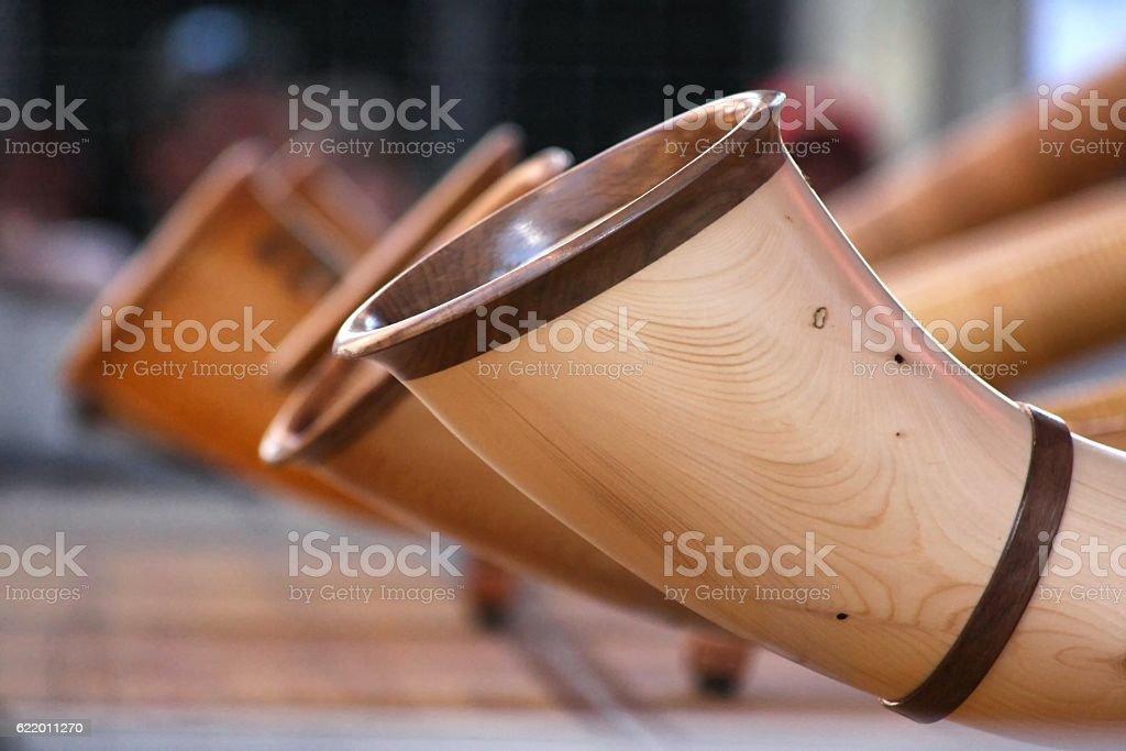 Alpenhorn stock photo