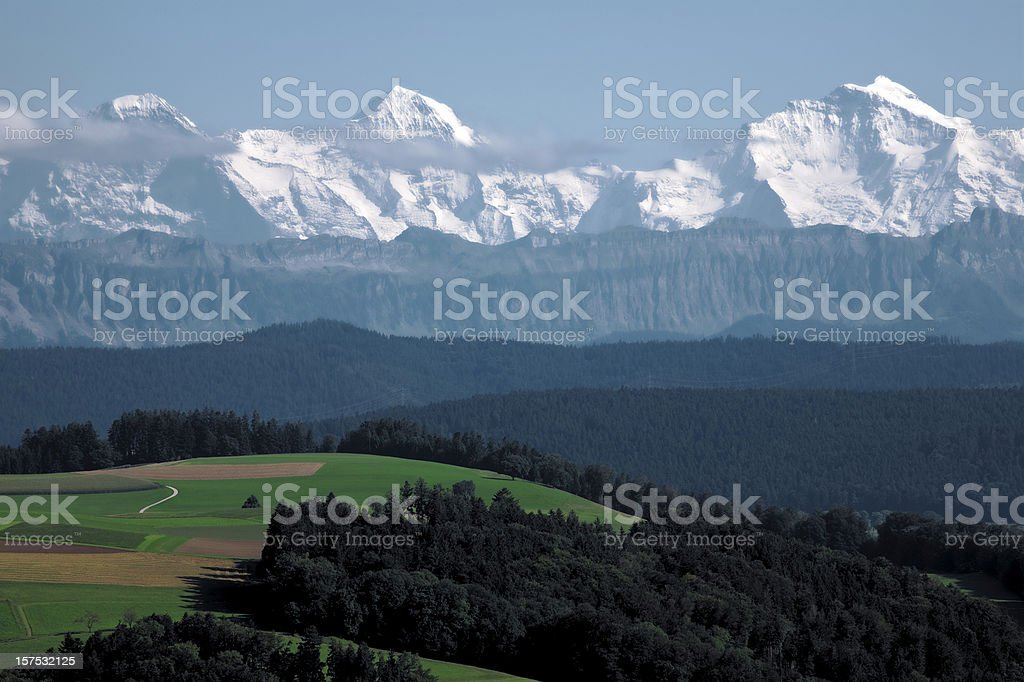 Alpenpanorama royalty-free stock photo