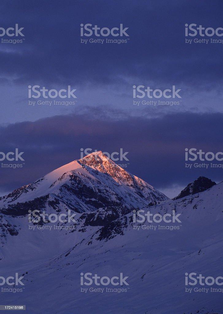 Alp-glow royalty-free stock photo