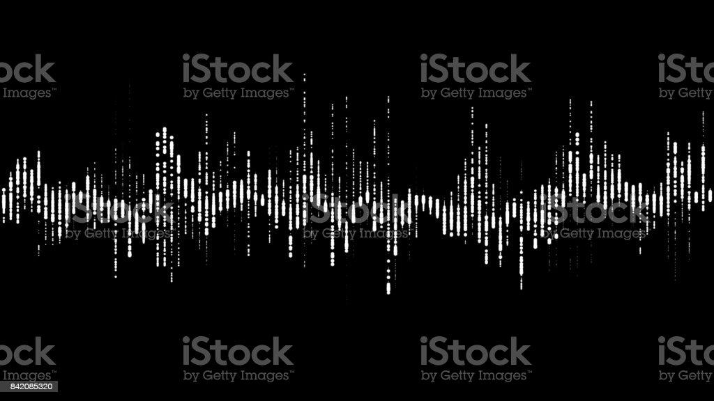 PNG alpha Digital waveform equalizer HUD 3d illustration stock photo