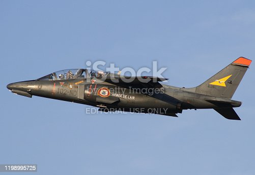 istock Alpha Jet from the Armee de´l Air take off from the Dijon Airbase 1198995725