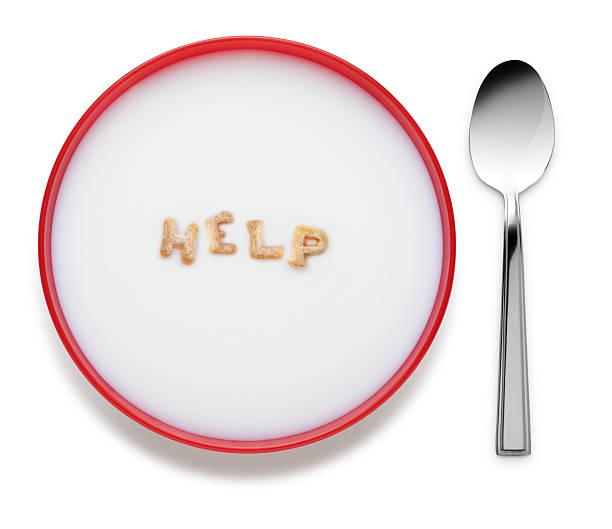 Alphabel Cereal spelling Help stock photo