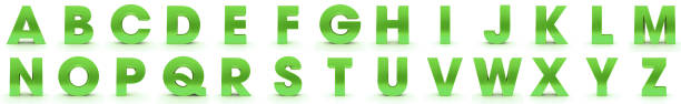 alphabet 3d letters green capital signs alphabet 3d letters green capital signs k icon stock pictures, royalty-free photos & images