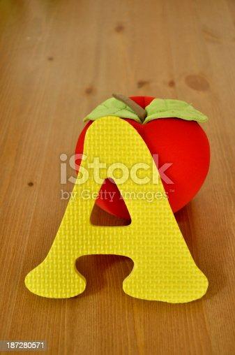 istock Alphabet A & apple 187280571