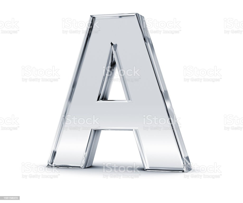 Alphabet A stock photo