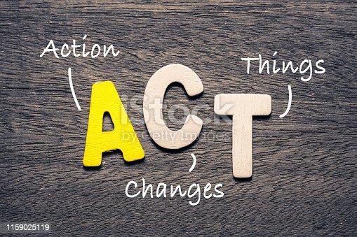istock ACT Alphabet and Acronym 1159025119