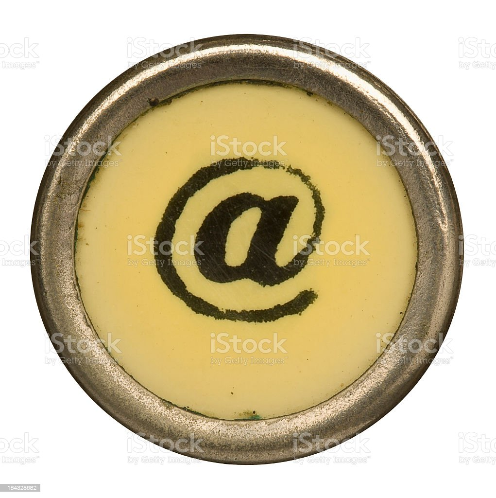 Alphabet - @ At Symbol from old Manual Typewriter. royalty-free stock photo