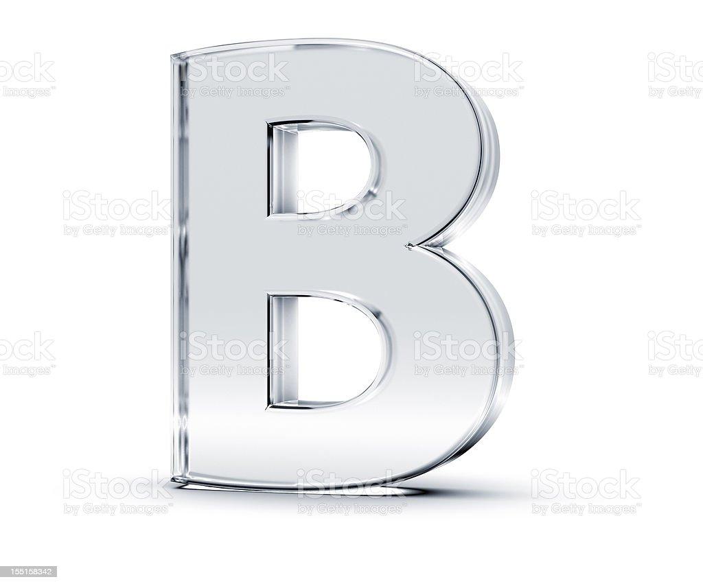 Alphabet B royalty-free stock photo