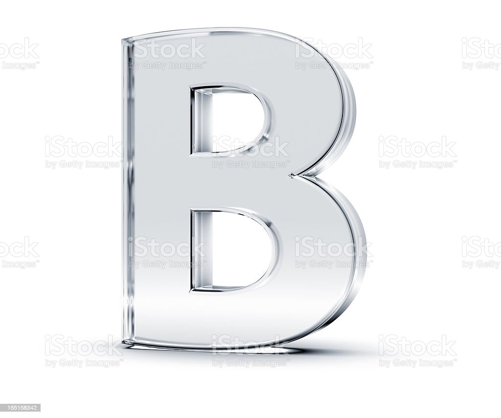 Alphabet B stock photo