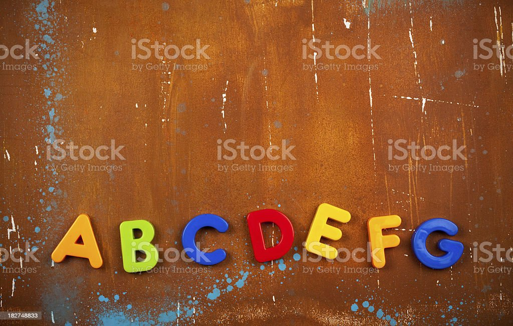 Alphabet background stock photo