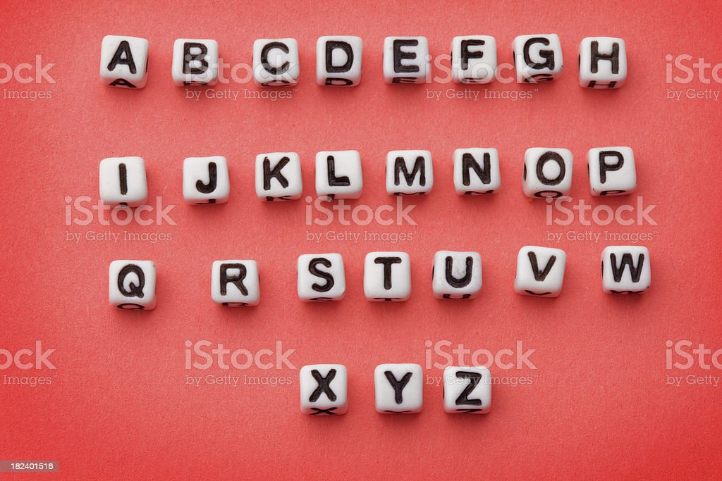 Alphabet Beads stock photo
