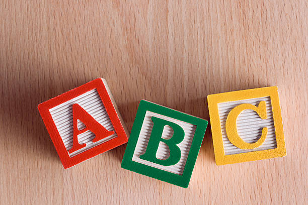 """alphabet blocks """"abc"""" - alphabetical order stock pictures, royalty-free photos & images"""
