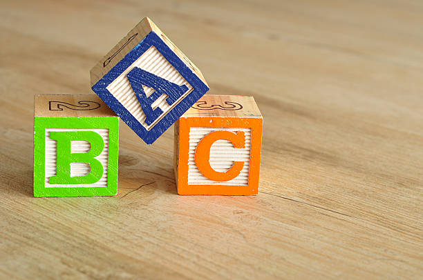 Alphabet blocks ABC stock photo